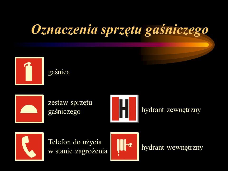 Oznaczenia sprzętu gaśniczego