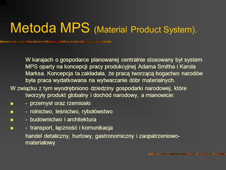 Metoda MPS (Material Product System).