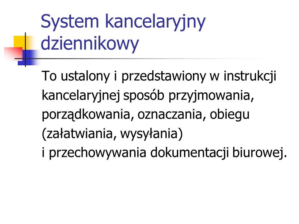 System kancelaryjny dziennikowy