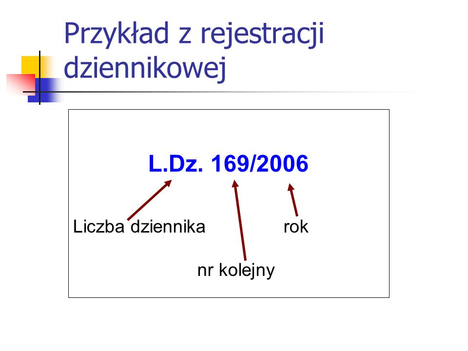 Przykład z rejestracji dziennikowej