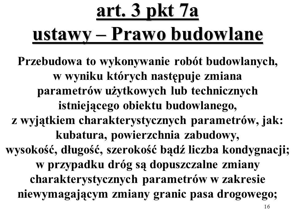 art. 3 pkt 7a ustawy – Prawo budowlane
