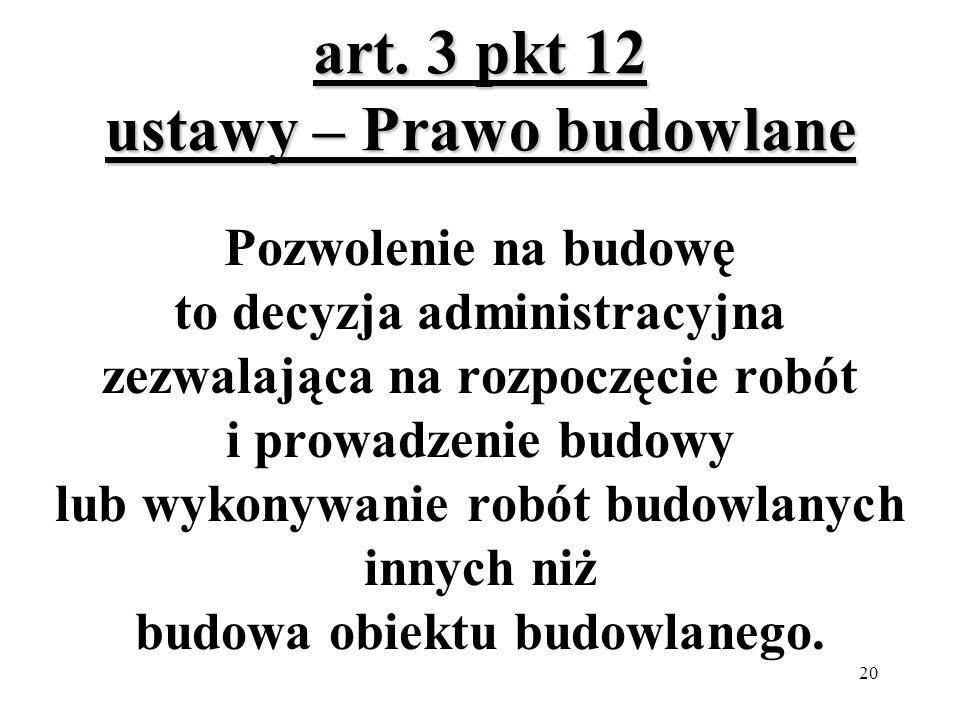 art. 3 pkt 12 ustawy – Prawo budowlane