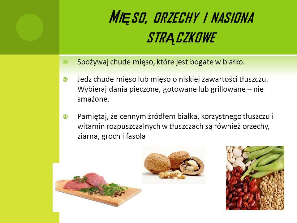 Mięso, orzechy i nasiona strączkowe