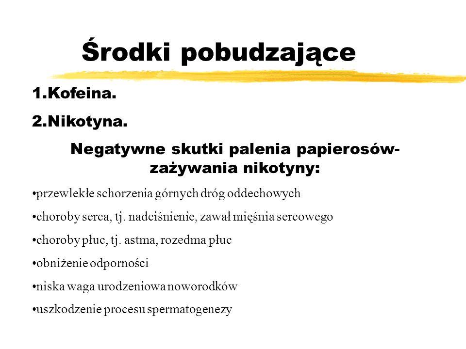 Negatywne skutki palenia papierosów-zażywania nikotyny: