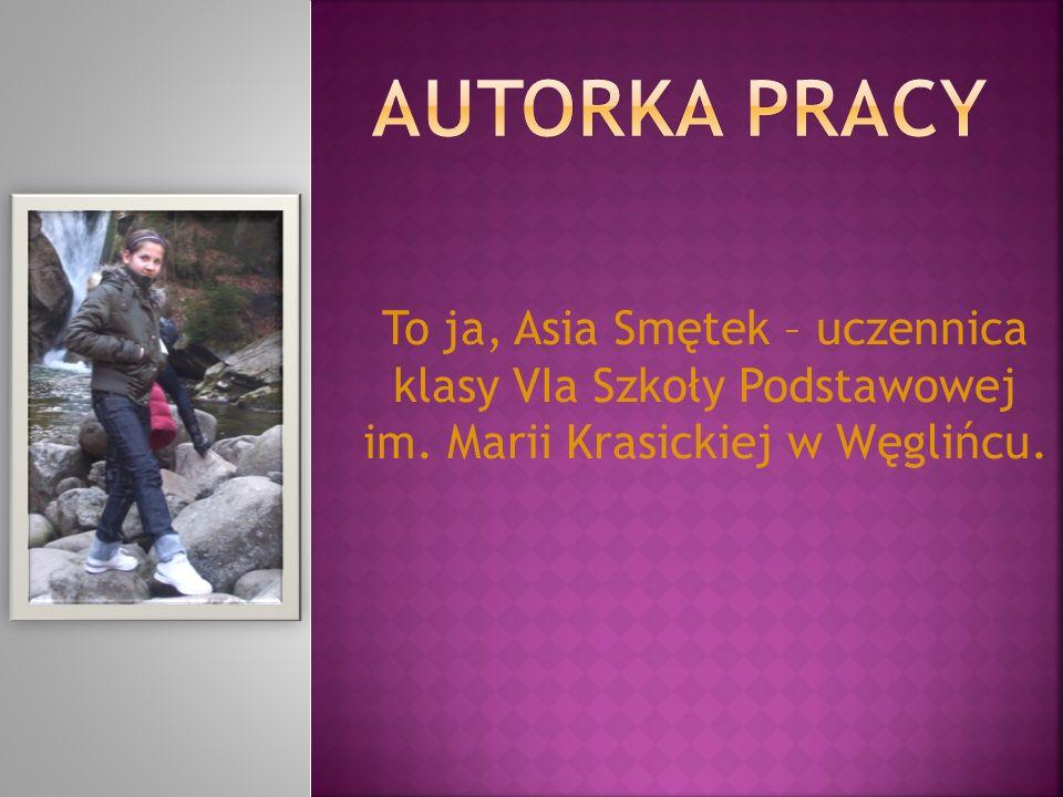 Autorka pracy To ja, Asia Smętek – uczennica klasy VIa Szkoły Podstawowej im.