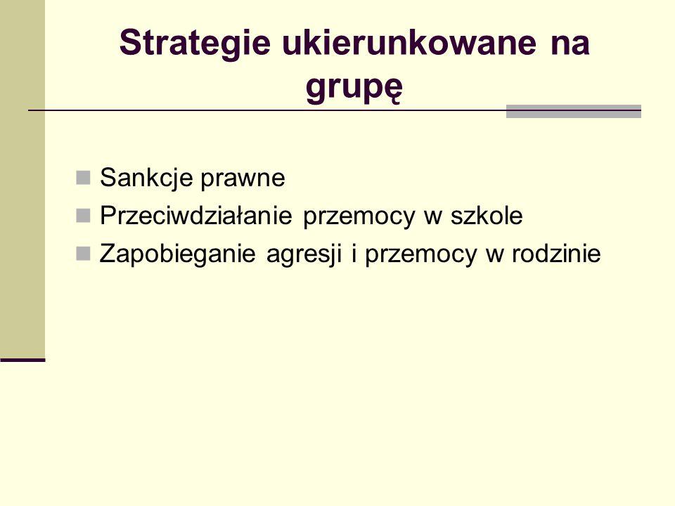 Strategie ukierunkowane na grupę