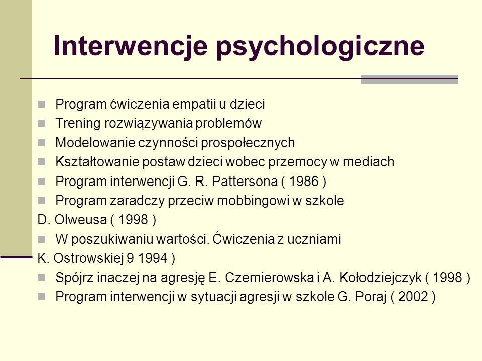 Interwencje psychologiczne