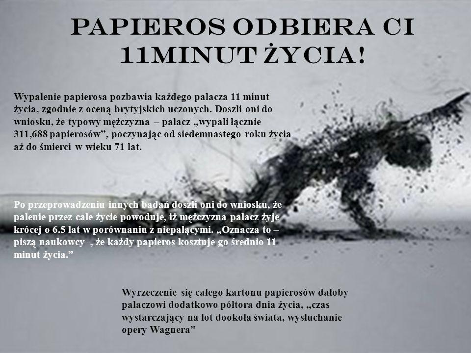 PAPIEROS ODBIERA CI 11MINUT ŻYCIA!