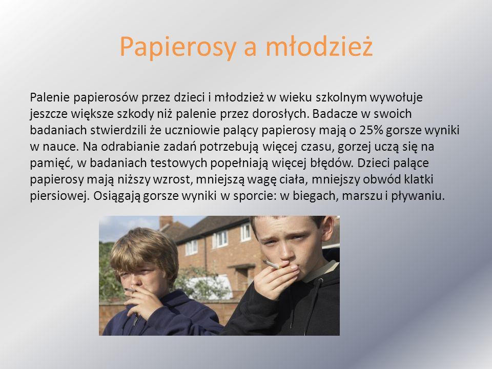 Papierosy a młodzież