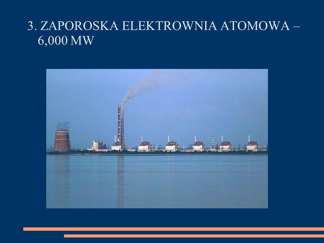 3. ZAPOROSKA ELEKTROWNIA ATOMOWA – 6,000 MW