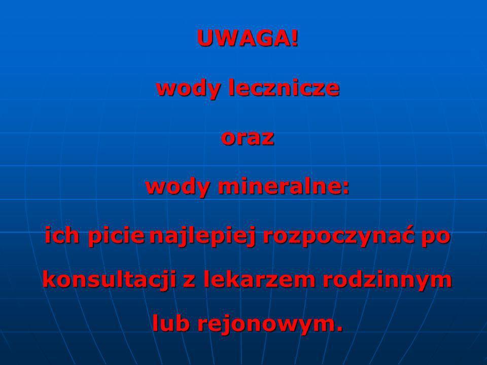 UWAGA. wody lecznicze. oraz.