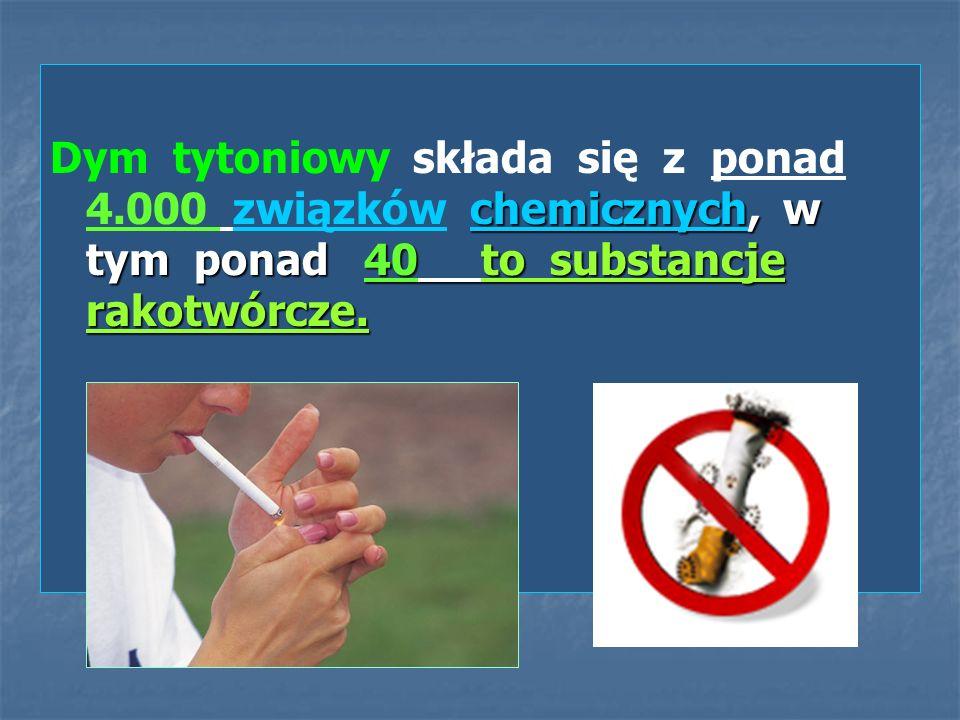 Dym tytoniowy składa się z ponad 4