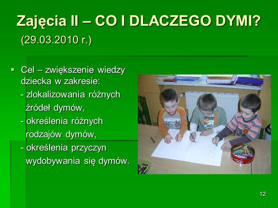 Zajęcia II – CO I DLACZEGO DYMI (29.03.2010 r.)