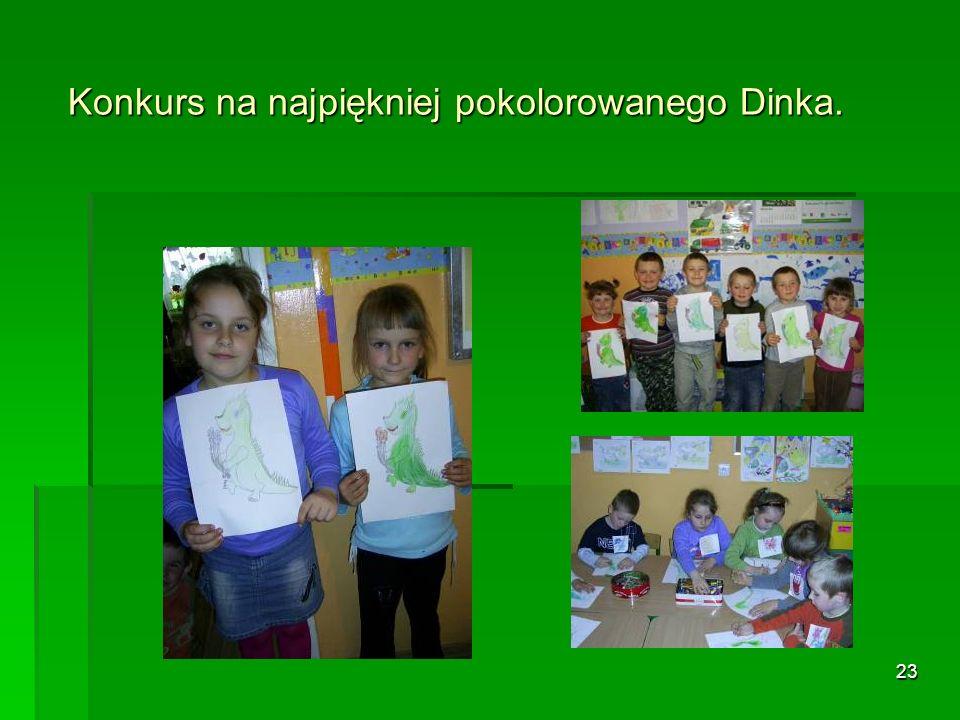 Konkurs na najpiękniej pokolorowanego Dinka.