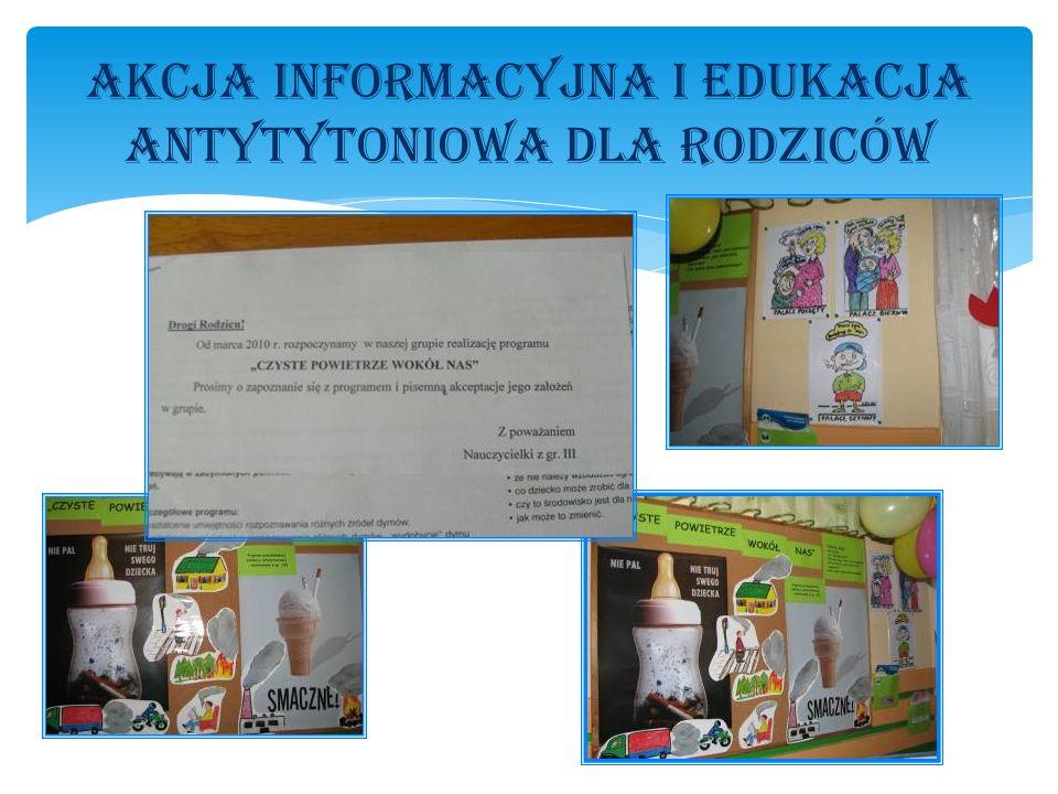 Akcja informacyjna i edukacja antytytoniowa dla Rodziców