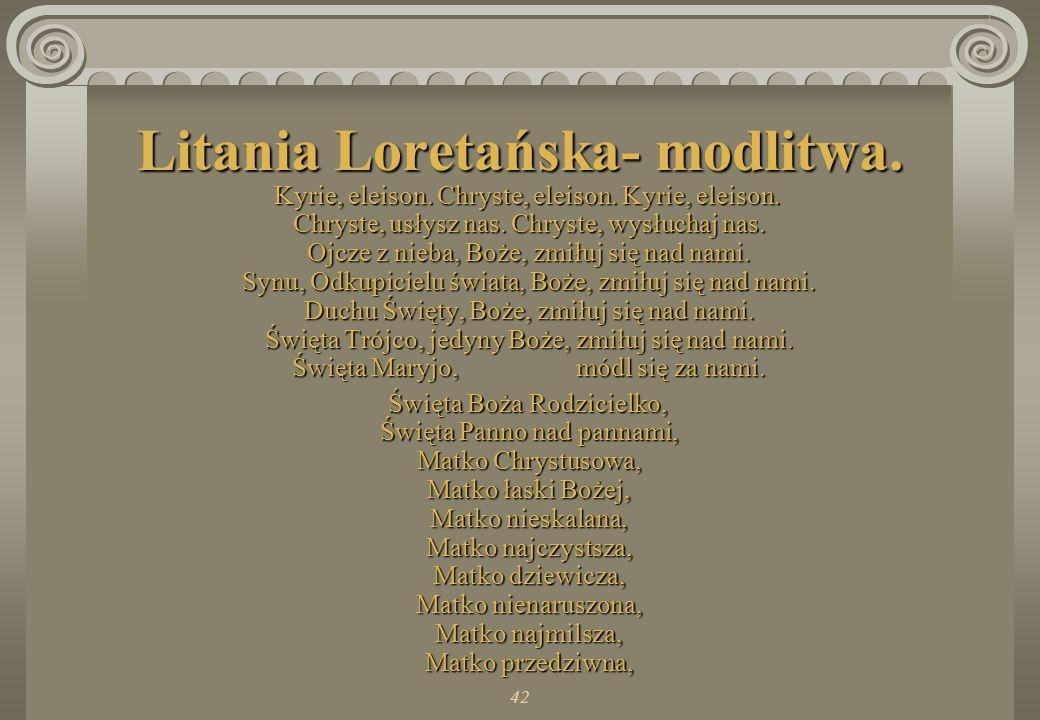 Litania Loretańska- modlitwa.