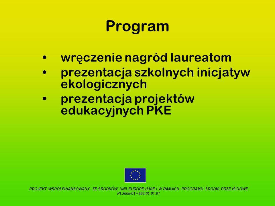 Program wręczenie nagród laureatom