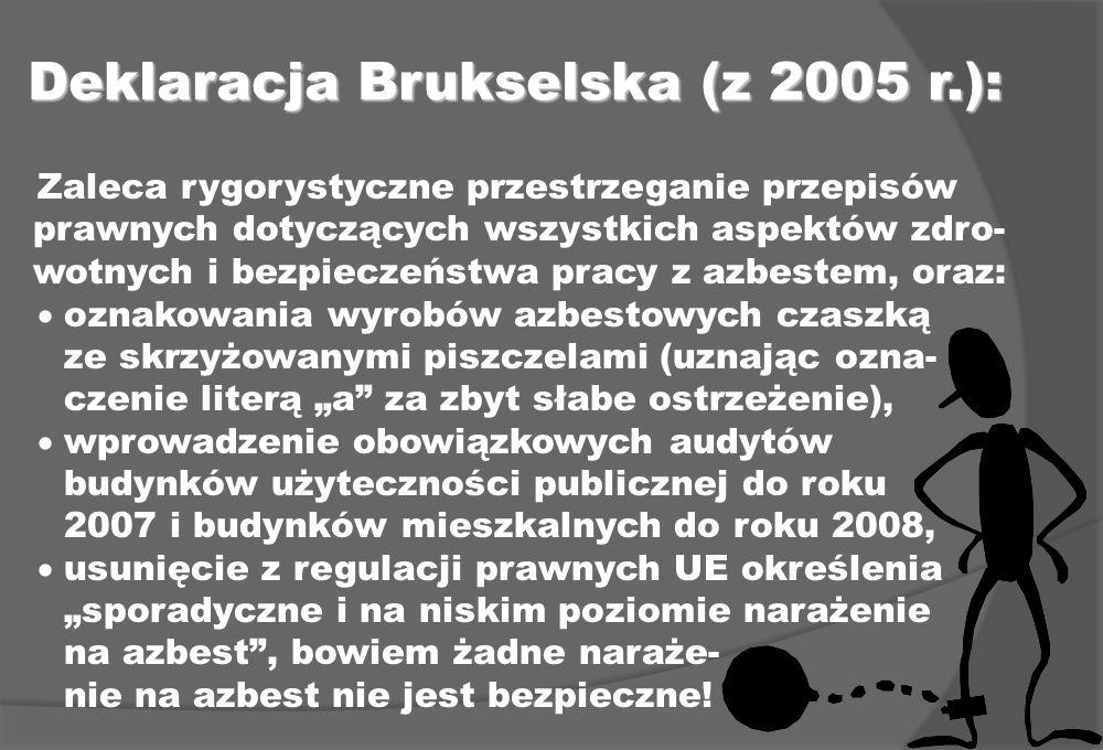 Deklaracja Brukselska (z 2005 r.):