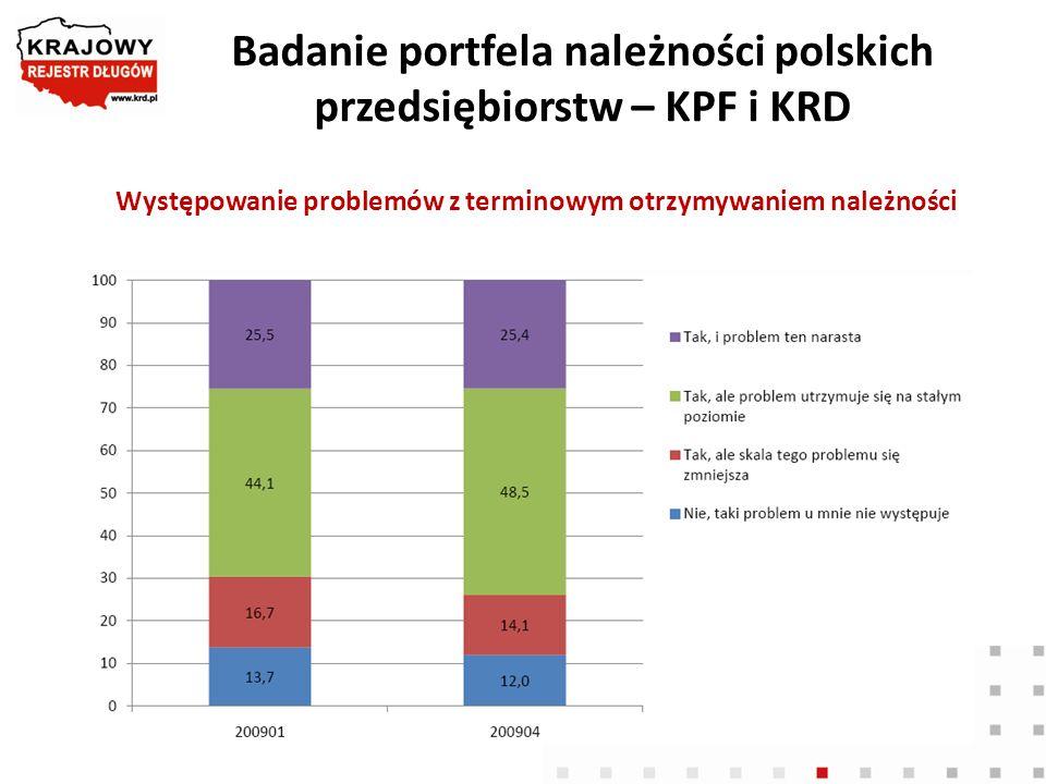 Badanie portfela należności polskich przedsiębiorstw – KPF i KRD
