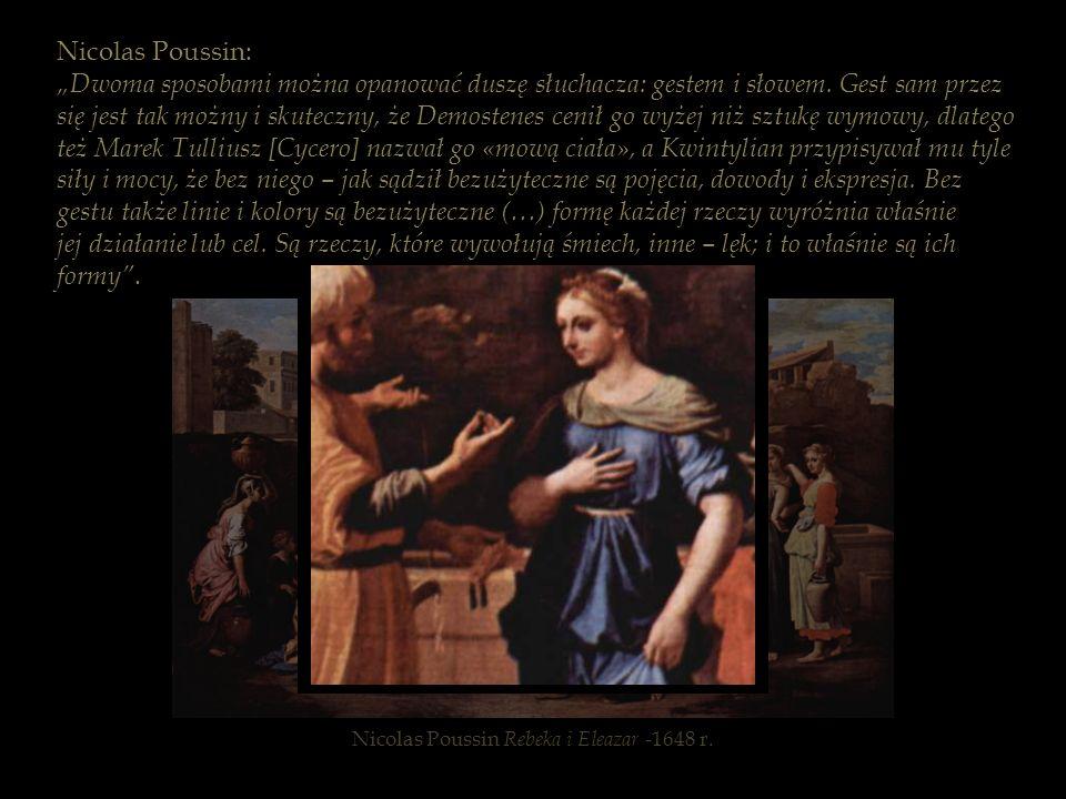 Nicolas Poussin Rebeka i Eleazar -1648 r.