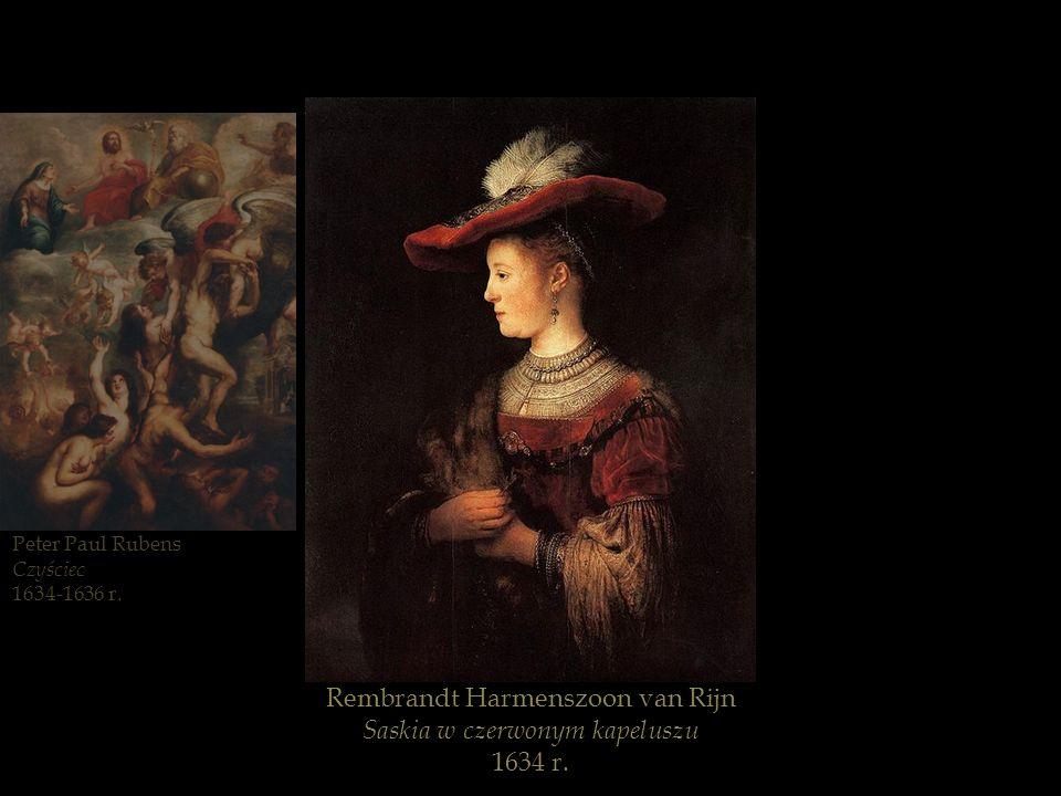 Rembrandt Harmenszoon van Rijn Saskia w czerwonym kapeluszu 1634 r.