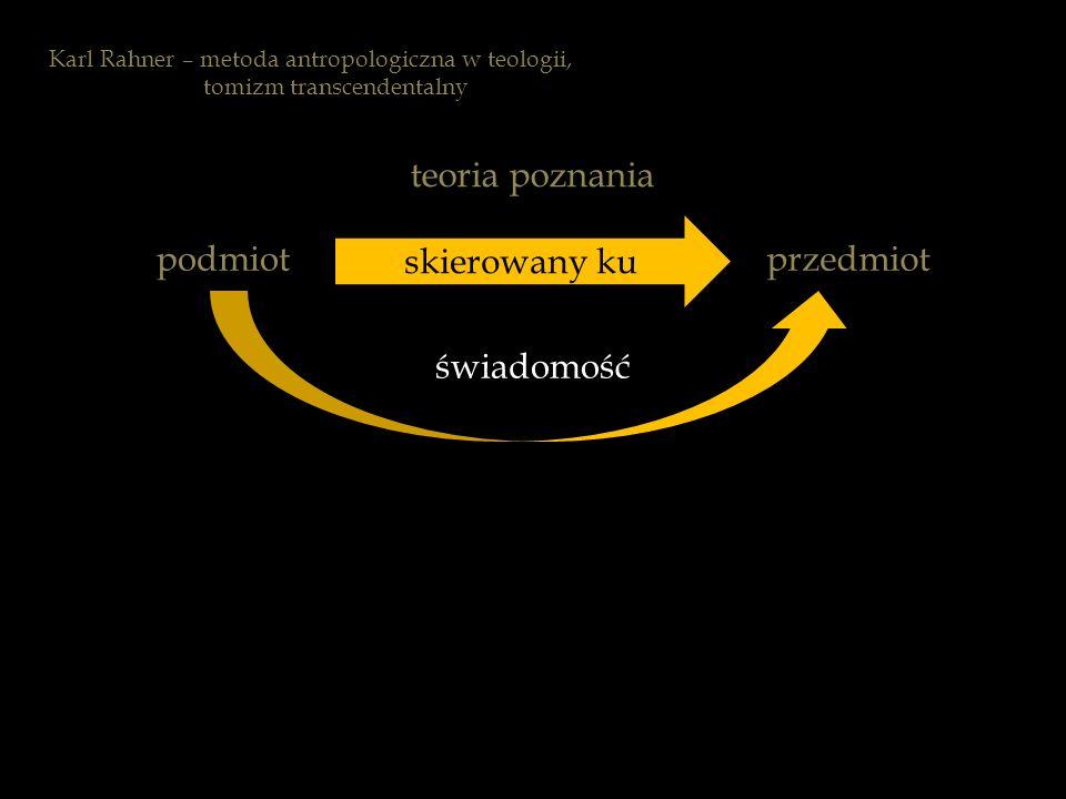 teoria poznania skierowany ku podmiot przedmiot świadomość