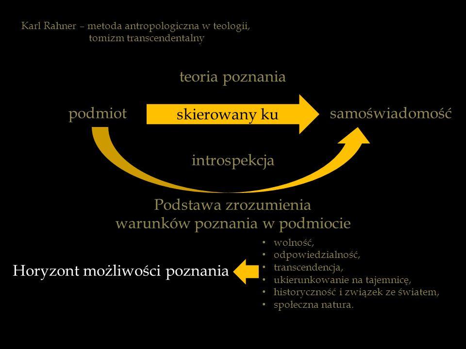 warunków poznania w podmiocie