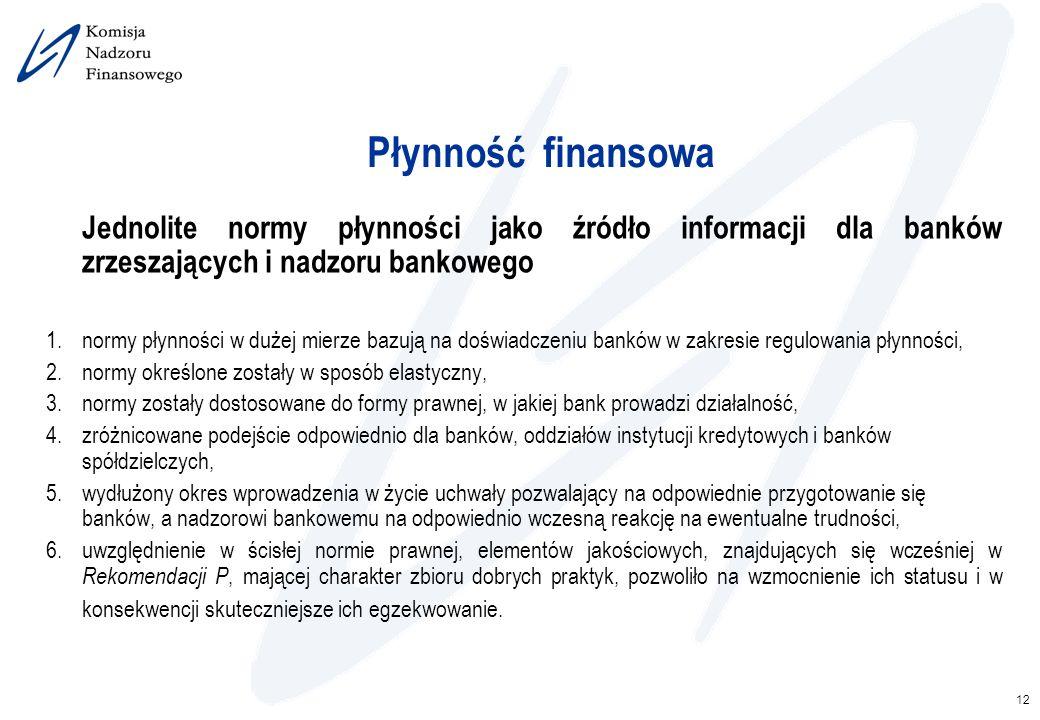 2017-03-26 Płynność finansowa. Jednolite normy płynności jako źródło informacji dla banków zrzeszających i nadzoru bankowego.