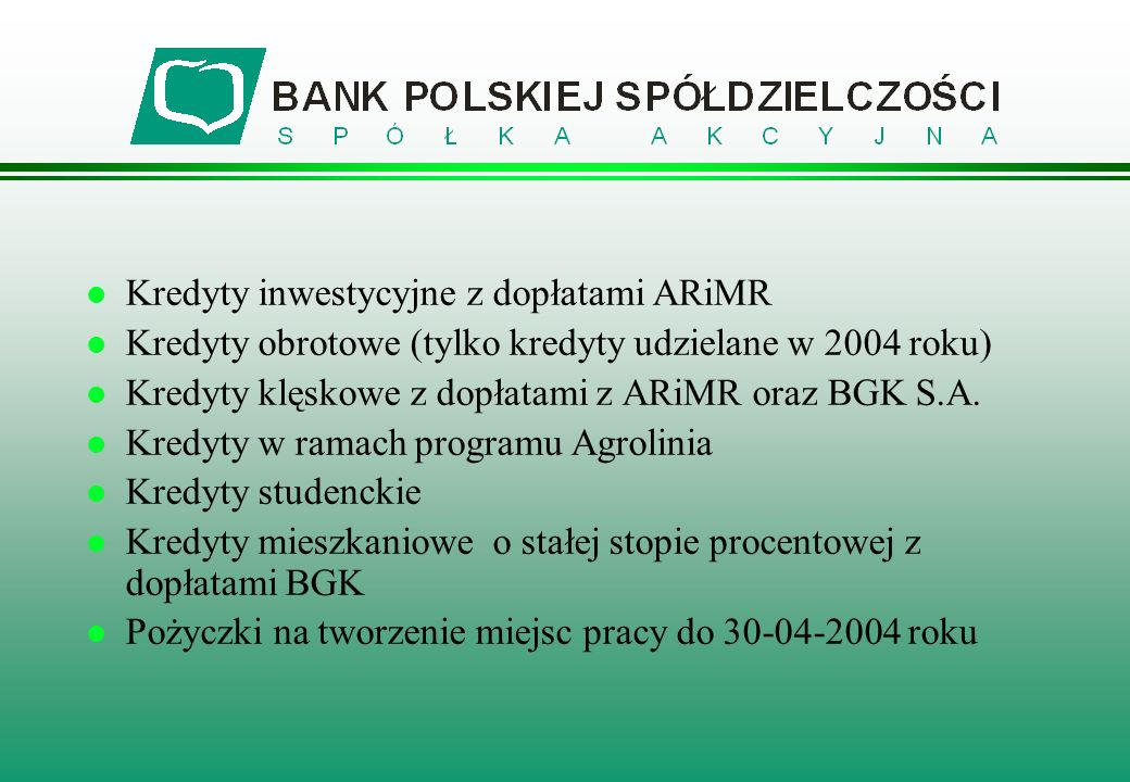 Kredyty inwestycyjne z dopłatami ARiMR