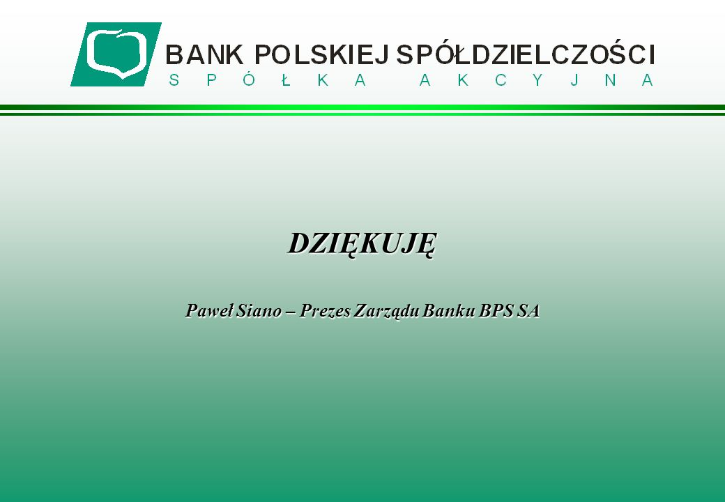 Paweł Siano – Prezes Zarządu Banku BPS SA
