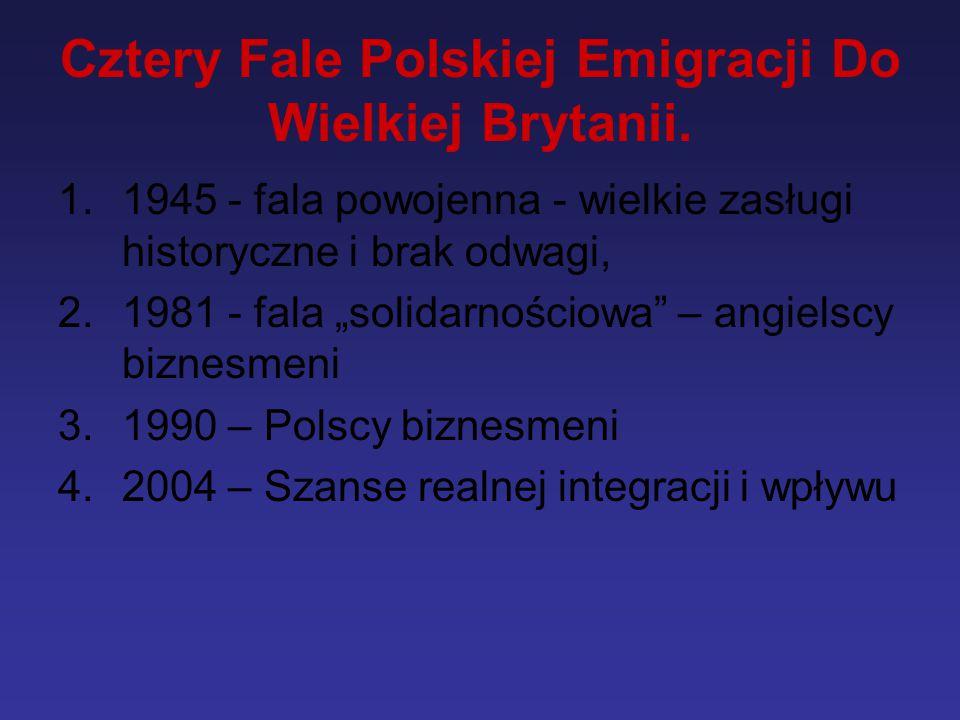 Cztery Fale Polskiej Emigracji Do Wielkiej Brytanii.