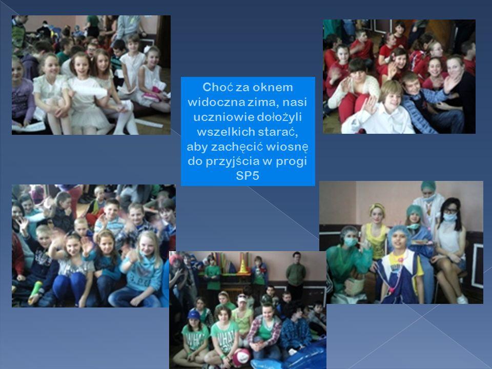 Choć za oknem widoczna zima, nasi uczniowie dołożyli wszelkich starać, aby zachęcić wiosnę do przyjścia w progi SP5