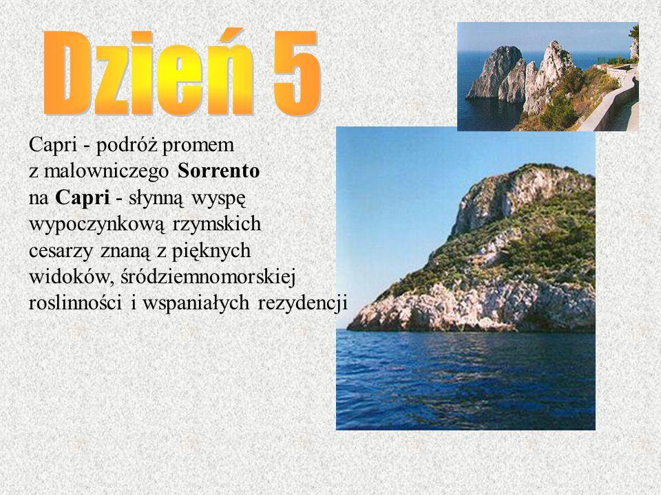 Dzień 5 Capri - podróż promem z malowniczego Sorrento