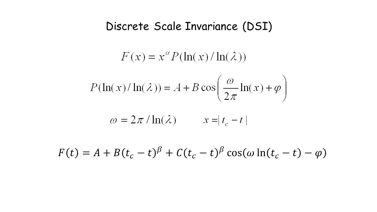 Discrete Scale Invariance (DSI)