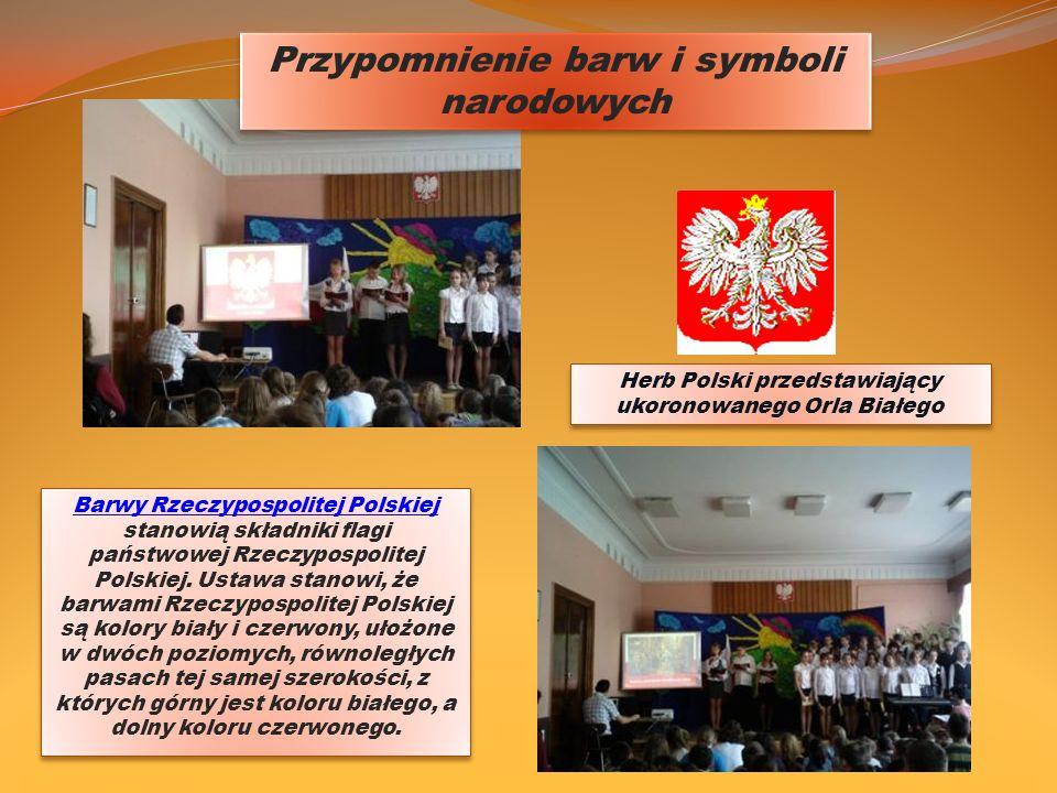 Przypomnienie barw i symboli narodowych