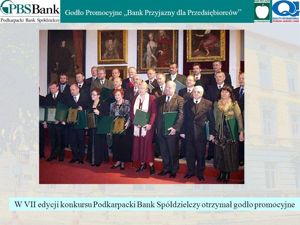 """Godło Promocyjne """"Bank Przyjazny dla Przedsiębiorców"""