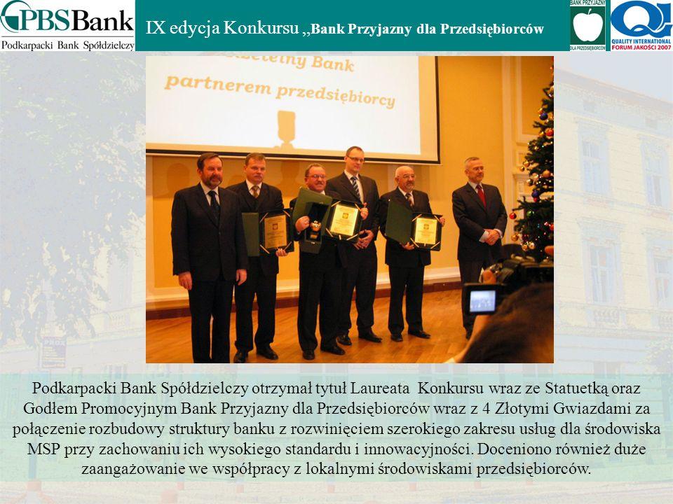 """IX edycja Konkursu """"Bank Przyjazny dla Przedsiębiorców"""