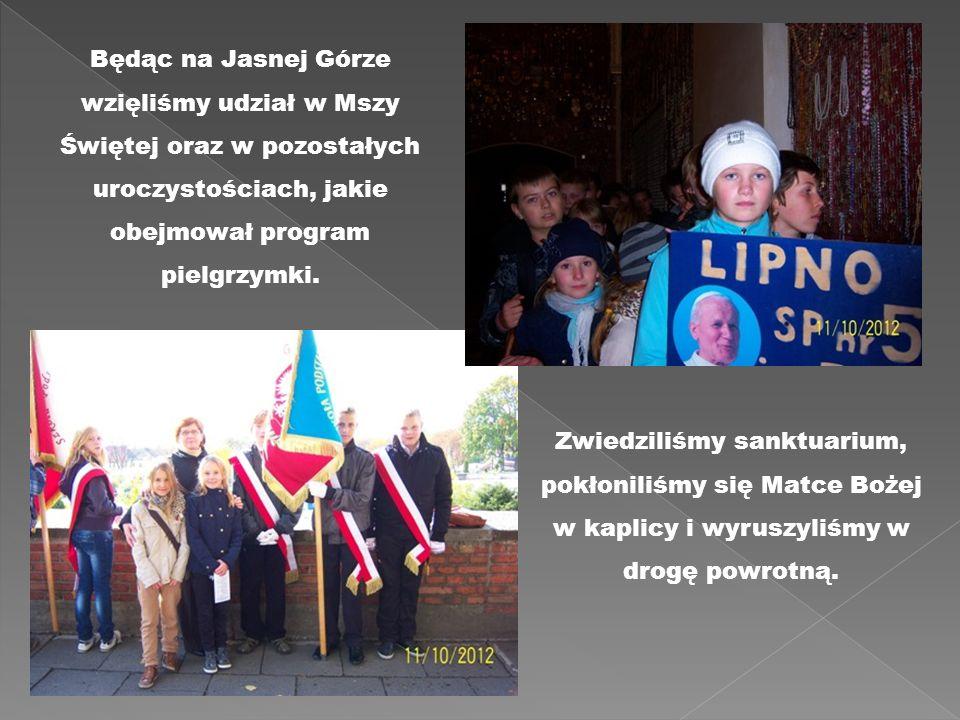 Będąc na Jasnej Górze wzięliśmy udział w Mszy Świętej oraz w pozostałych uroczystościach, jakie obejmował program pielgrzymki.