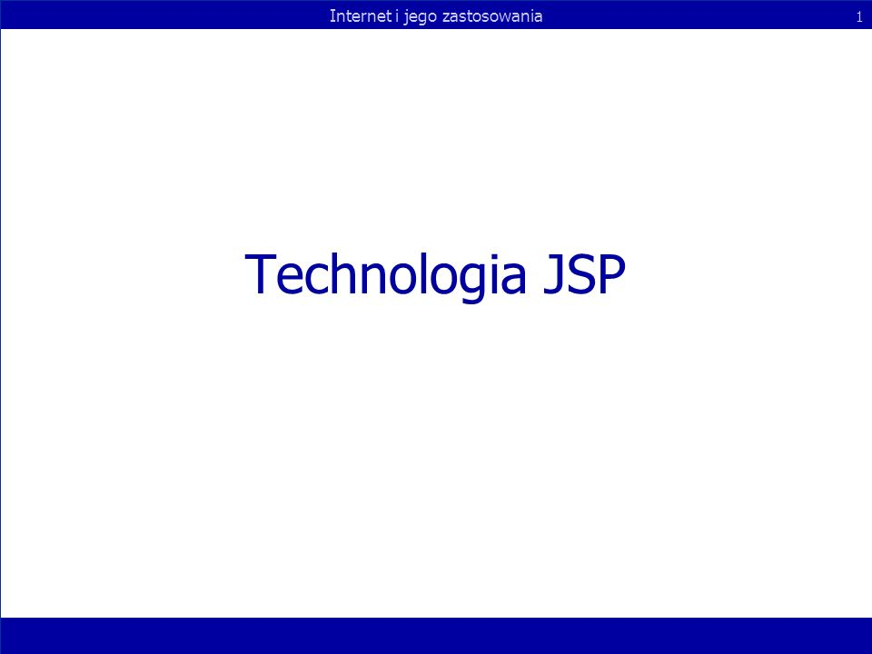 Technologia JSP