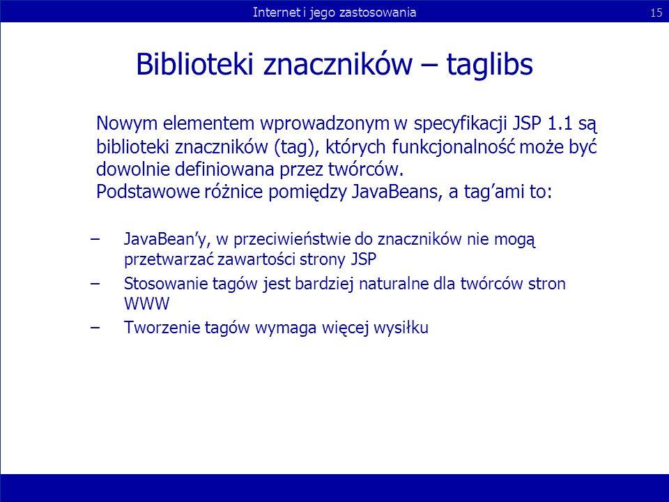 Biblioteki znaczników – taglibs