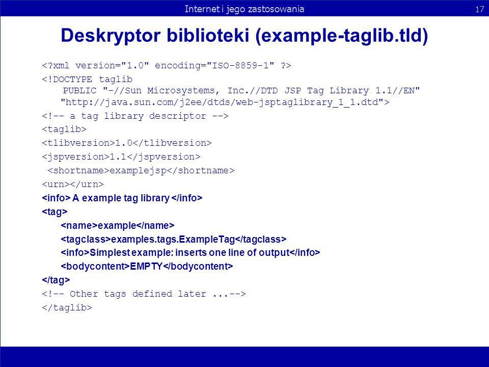 Deskryptor biblioteki (example-taglib.tld)