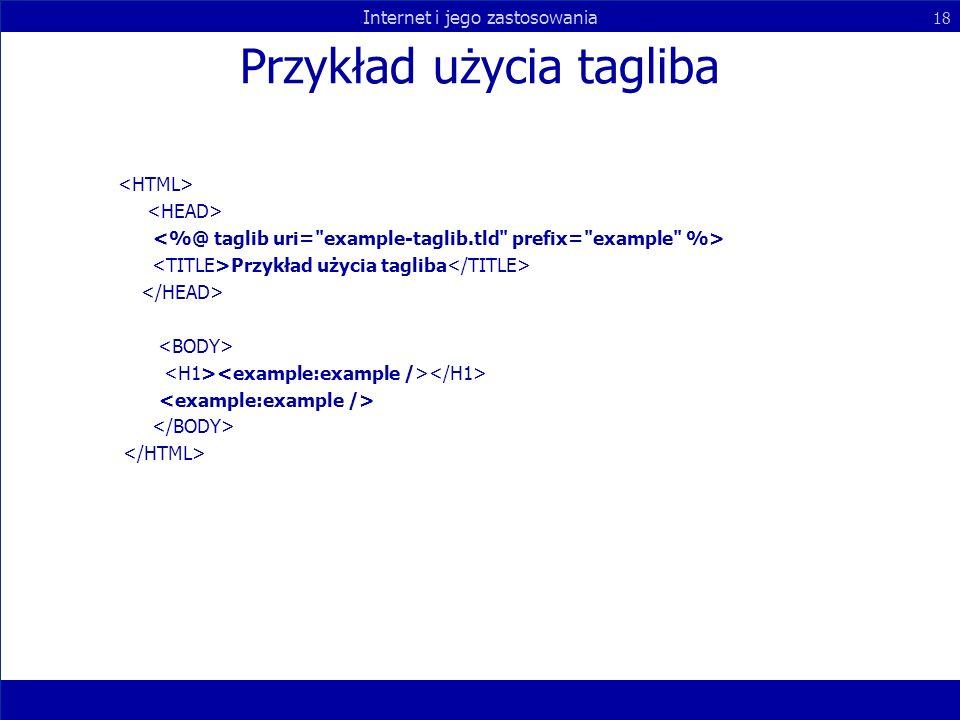 Przykład użycia tagliba