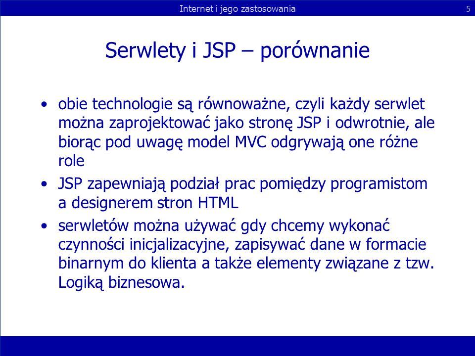 Serwlety i JSP – porównanie