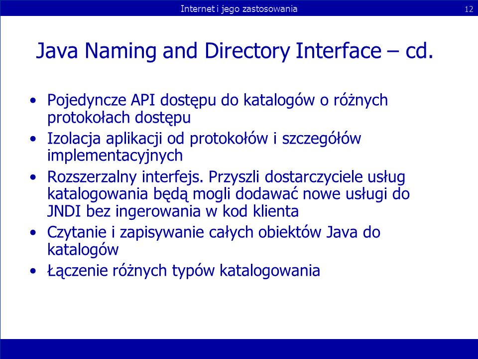 Java Naming and Directory Interface – cd.