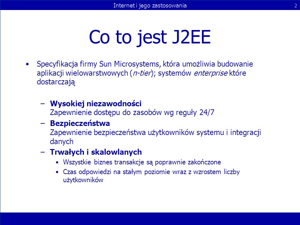 Co to jest J2EE