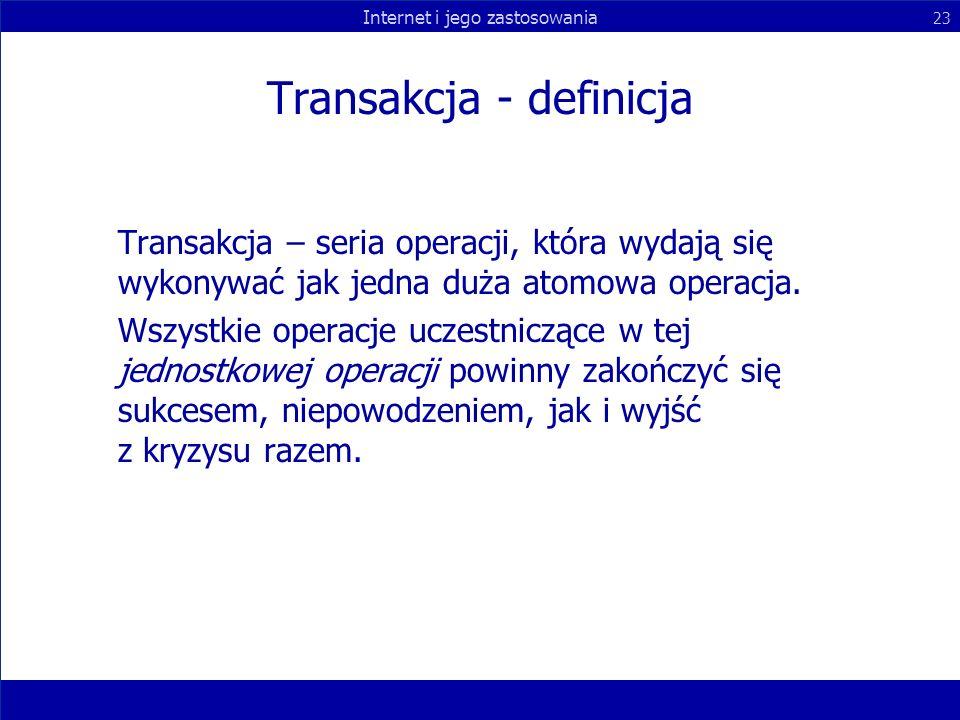 Transakcja - definicja