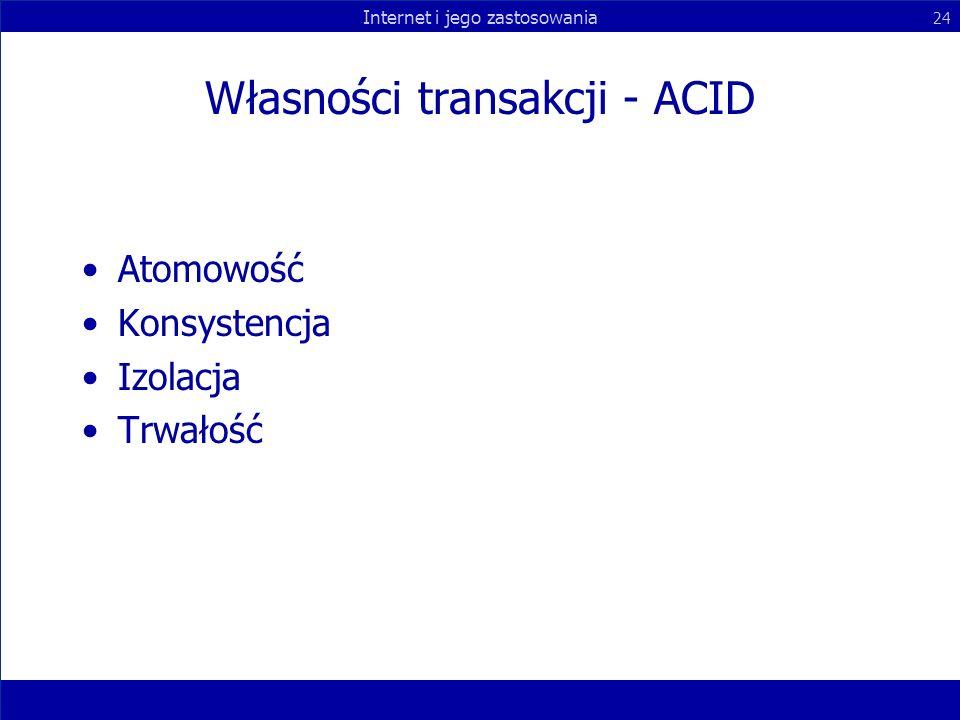 Własności transakcji - ACID