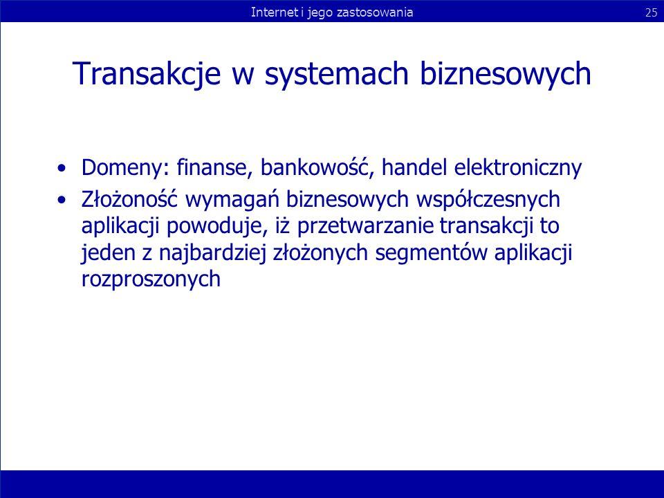 Transakcje w systemach biznesowych