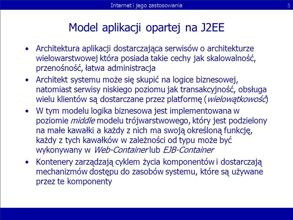 Model aplikacji opartej na J2EE