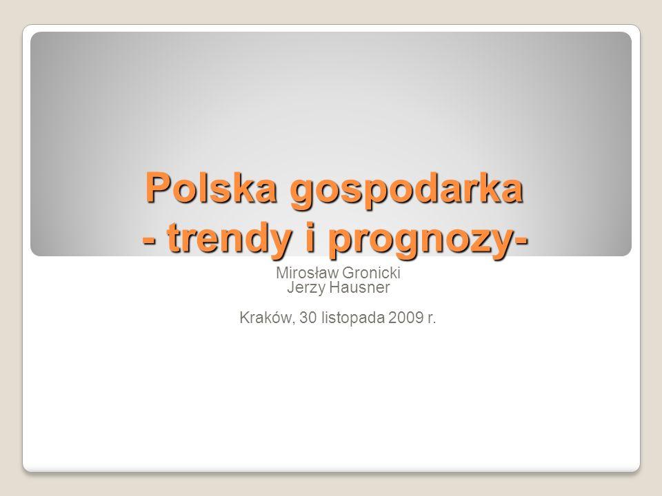Polska gospodarka - trendy i prognozy-